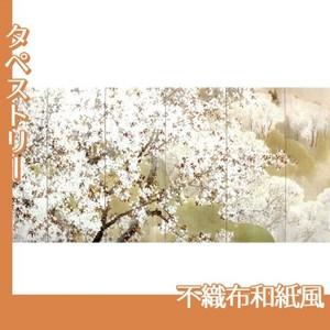 木島桜谷「小雨ふる吉野(左)」【タペストリー:不織布和紙風】