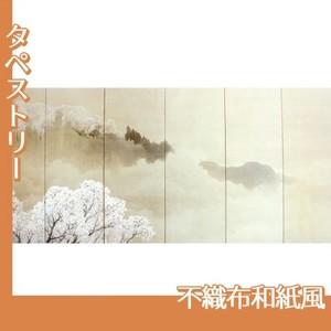 木島桜谷「小雨ふる吉野(右)」【タペストリー:不織布和紙風】