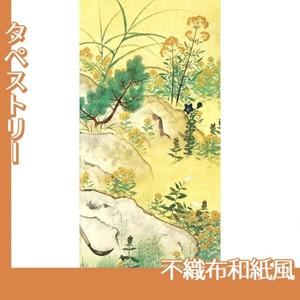 横山大観「野の花4」【タペストリー:不織布和紙風】