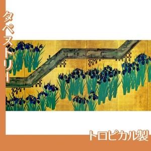 酒井抱一「八橋図屏風(左隻)」【タペストリー:トロピカル】