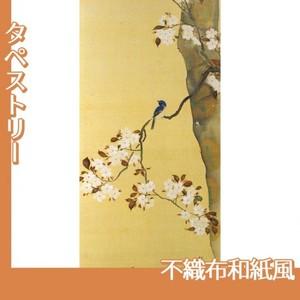 酒井抱一「桜に小禽図・柿に小禽図(右隻)」【タペストリー:不織布和紙風】