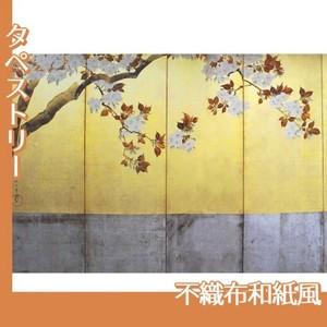 酒井抱一「桜図屏風(左隻)」【タペストリー:不織布和紙風】