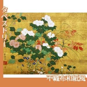 酒井抱一「秋草花卉図」【タペストリー:不織布和紙風】