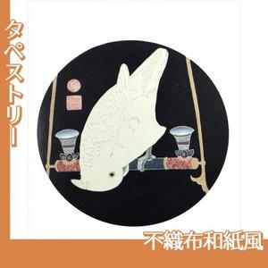伊藤若冲「花鳥版画(六枚) 六.鸚鵡図」【タペストリー:不織布和紙風】