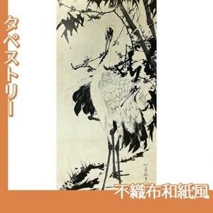 伊藤若冲「竹梅群鶴図1(双幅)」【タペストリー:不織布和紙風】
