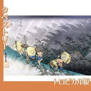 歌川広重「東海道五拾三次 庄野・白雨」【タペストリー:トロピカル】