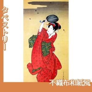 歌川豊国「蛍狩美人図」【タペストリー:不織布和紙風】