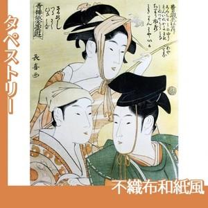栄松斎長喜「青楼俄全盛遊」【タペストリー:不織布和紙風】