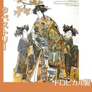 勝川春章「初代中村里好」【タペストリー:不織布和紙風】