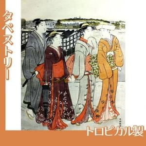 勝川春潮「三囲詣1」【タペストリー:トロピカル】