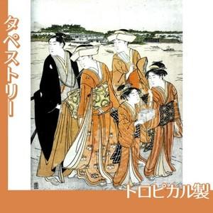 勝川春潮「三囲詣2」【タペストリー:トロピカル】