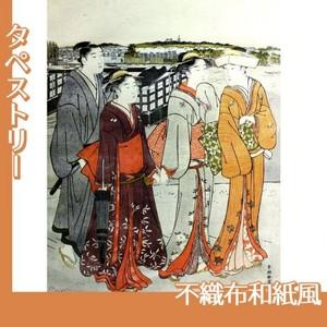 勝川春潮「三囲詣1」【タペストリー:不織布和紙風】