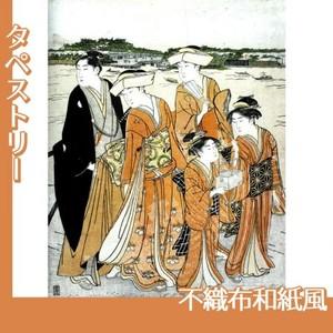 勝川春潮「三囲詣2」【タペストリー:不織布和紙風】