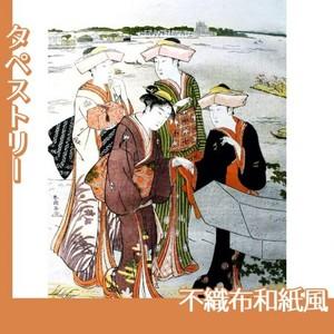 勝川春潮「三囲詣3」【タペストリー:不織布和紙風】