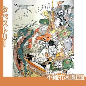 勝川春朗「七福神」【タペストリー:不織布和紙風】