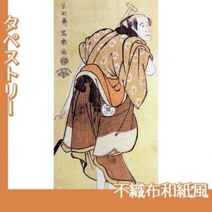 東洲斎写楽「大谷徳次の物草太郎」【タペストリー:不織布和紙風】