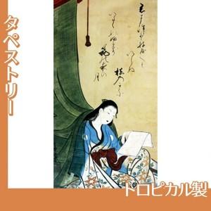 山崎女龍「文読む蚊帳美人図」【タペストリー:トロピカル】