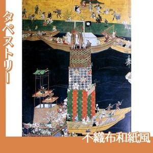 無款「津島神社祭礼図屏風 朝祭(部分3)」【タペストリー:不織布和紙風】