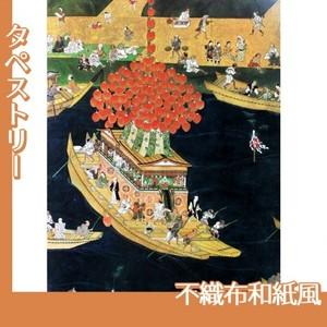 無款「津島神社祭礼図屏風 宵祭(部分)」【タペストリー:不織布和紙風】