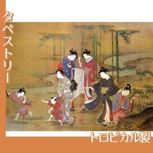無款「見立竹林七賢図」【タペストリー:トロピカル】