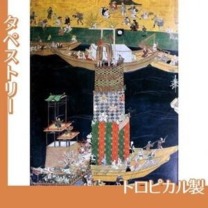 無款「津島神社祭礼図屏風 朝祭(部分3)」【タペストリー:トロピカル】