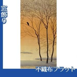 菱田春草「暮色」【窓飾り:不織布フラット100g】