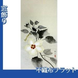 速水御舟「白芙蓉」【窓飾り:不織布フラット100g】