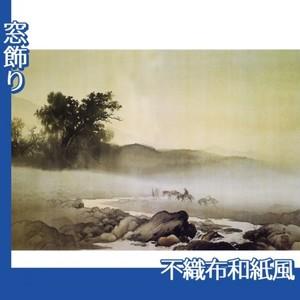 川合玉堂「二日月」【窓飾り:不織布和紙風】