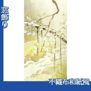 川合玉堂「暮春の雨1」【窓飾り:不織布和紙風】