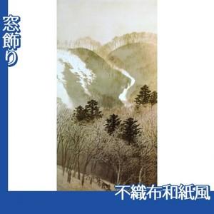 川合玉堂「峰の夕1」【窓飾り:不織布和紙風】