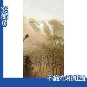 川合玉堂「峰の夕2」【窓飾り:不織布和紙風】