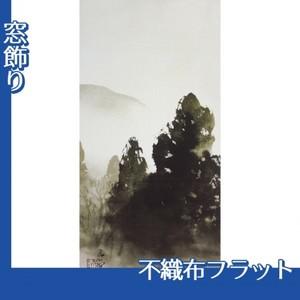 川合玉堂「冬の月1」【窓飾り:不織布フラット100g】