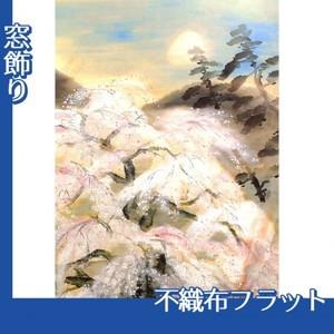 冨田溪仙「祇園夜桜図」【窓飾り:不織布フラット100g】