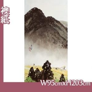 川合玉堂「遠雷麦秋1」【襖紙】