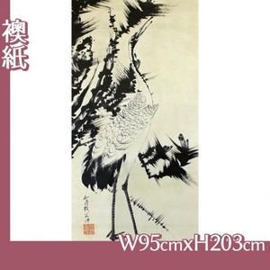 伊藤若冲「竹梅群鶴図2(双幅)」【襖紙】