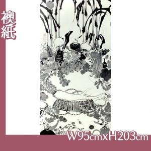 伊藤若冲「果蔬涅槃図」【襖紙】