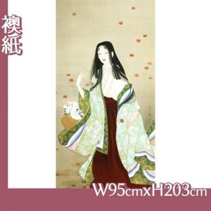 上村松園「花がたみ」【襖紙】