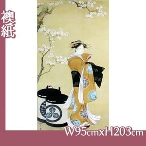 歌川豊春「桜下遊女図」【襖紙】