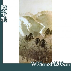 川合玉堂「峰の夕1」【障子紙】