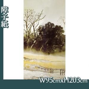 川合玉堂「寒流暮靄1」【障子紙】