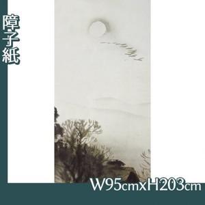 川合玉堂「冬の月2」【障子紙】