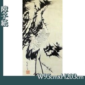 伊藤若冲「竹梅群鶴図2(双幅)」【障子紙】
