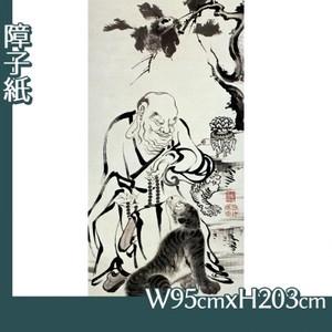 伊藤若冲「十六羅漢図(六幅) 二」【障子紙】