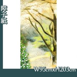 小茂田青樹「春庭」【障子紙】