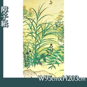 横山大観「野の花1」【障子紙】