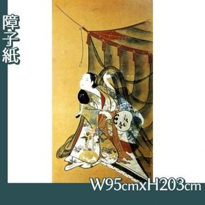 懐月堂安度「蚊帳美人図」【障子紙】