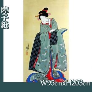歌川国芳「振袖美人図」【障子紙】