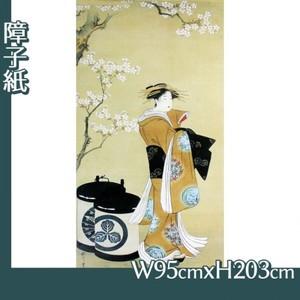 歌川豊春「桜下遊女図」【障子紙】