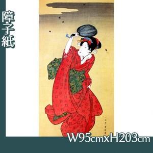 歌川豊国「蛍狩美人図」【障子紙】