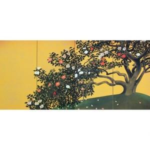 速水御舟「名樹散椿」【ホログラム額装向け複製画】